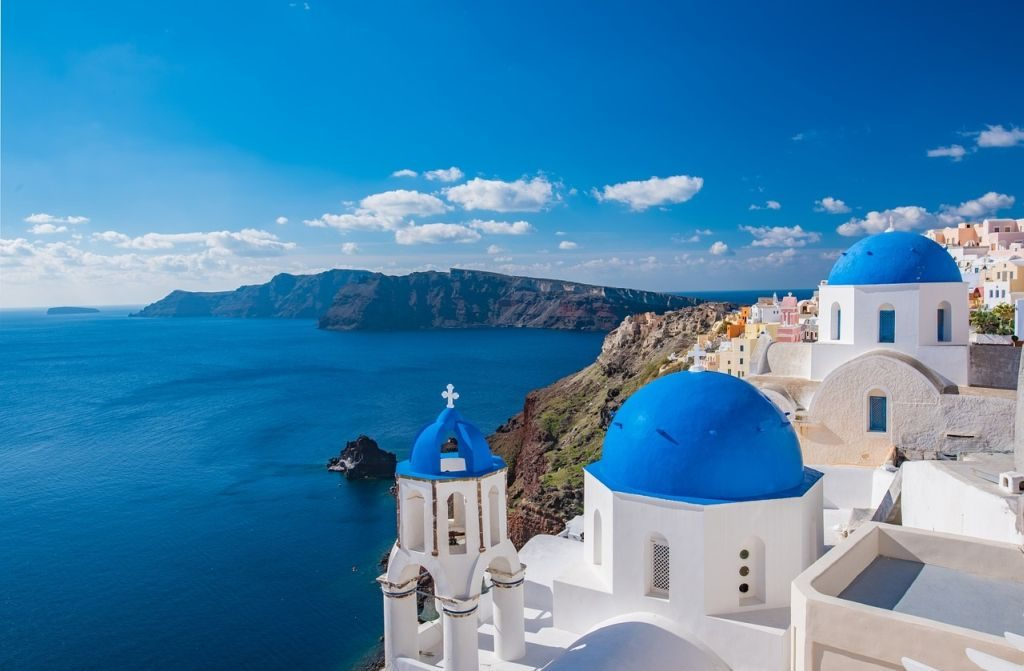 santorini travel church classic view