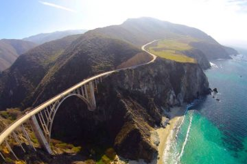 aerial photography Bixby Bridge