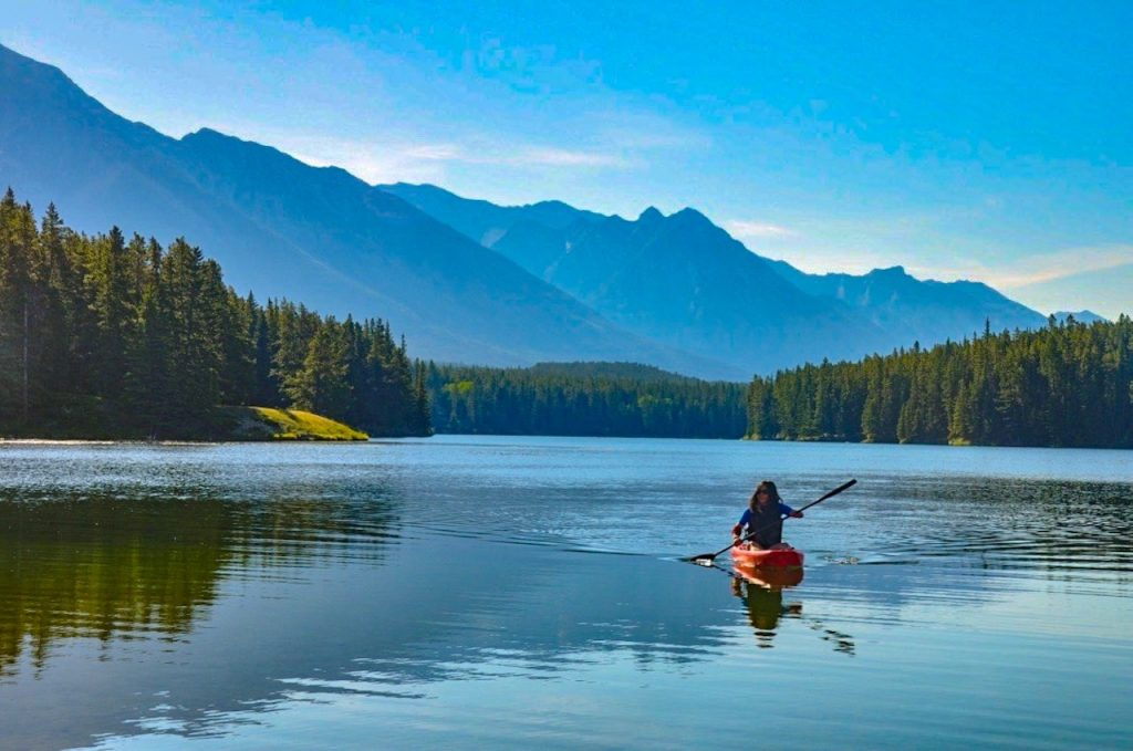 Kayaking in the Canada Rockies