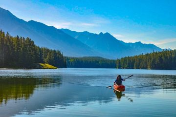 Kayaking in the Canada Rockies