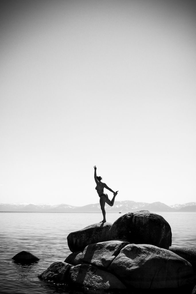 Dance Pose #2 on Lake Tahoe - 683 x 1024 yoga