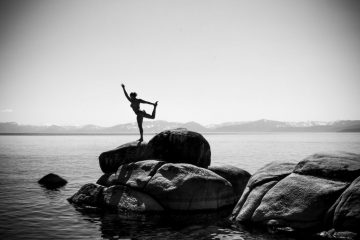 Dancer Pose on Lake Tahoe - 1024 x 683 yoga
