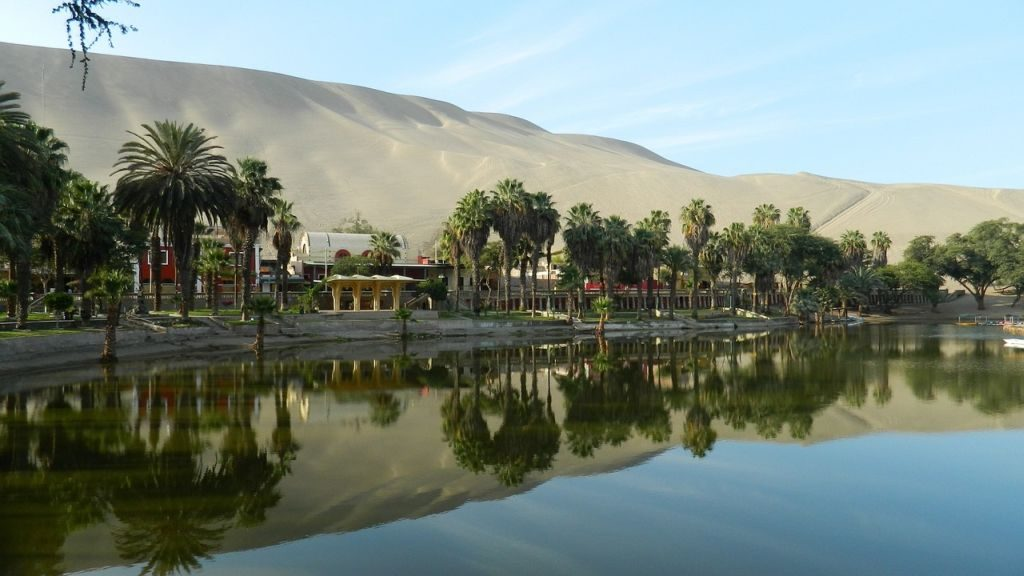 Ica - Peru Water Mirror Oasis Of Huacachina