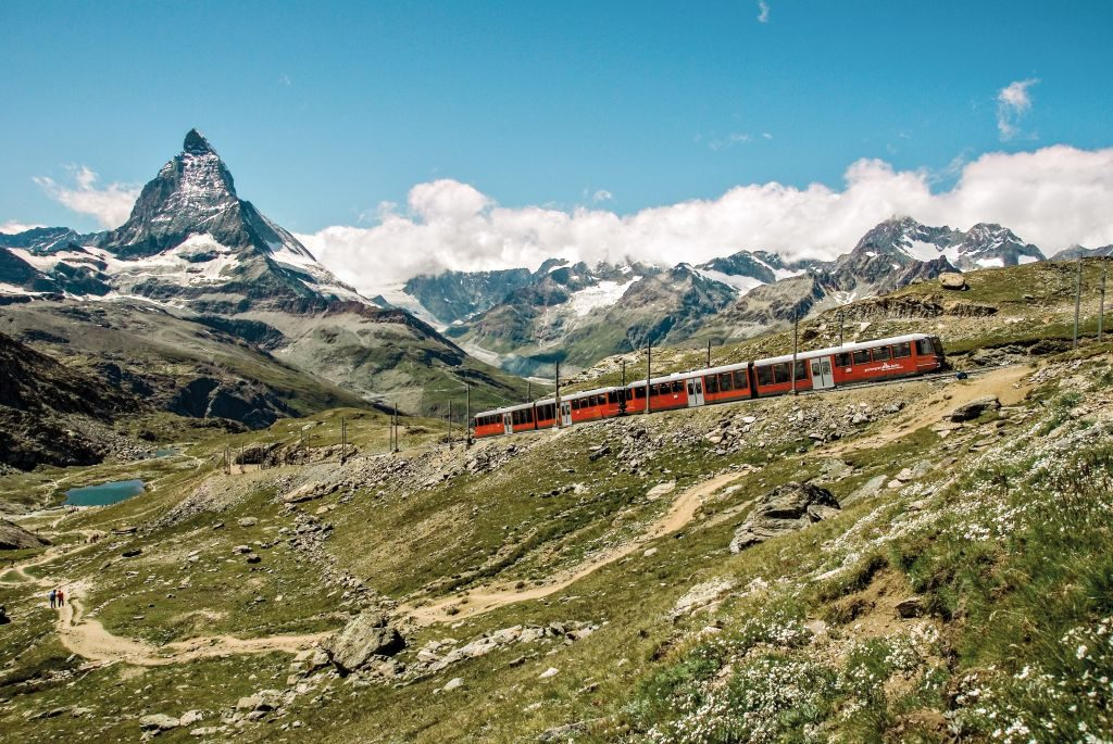 zermatt switzerland train mountain adventure
