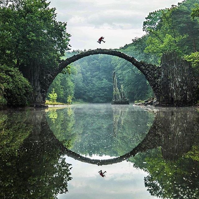 This Amazing Devil's Bridge in Germany Forms a Perfect Circle