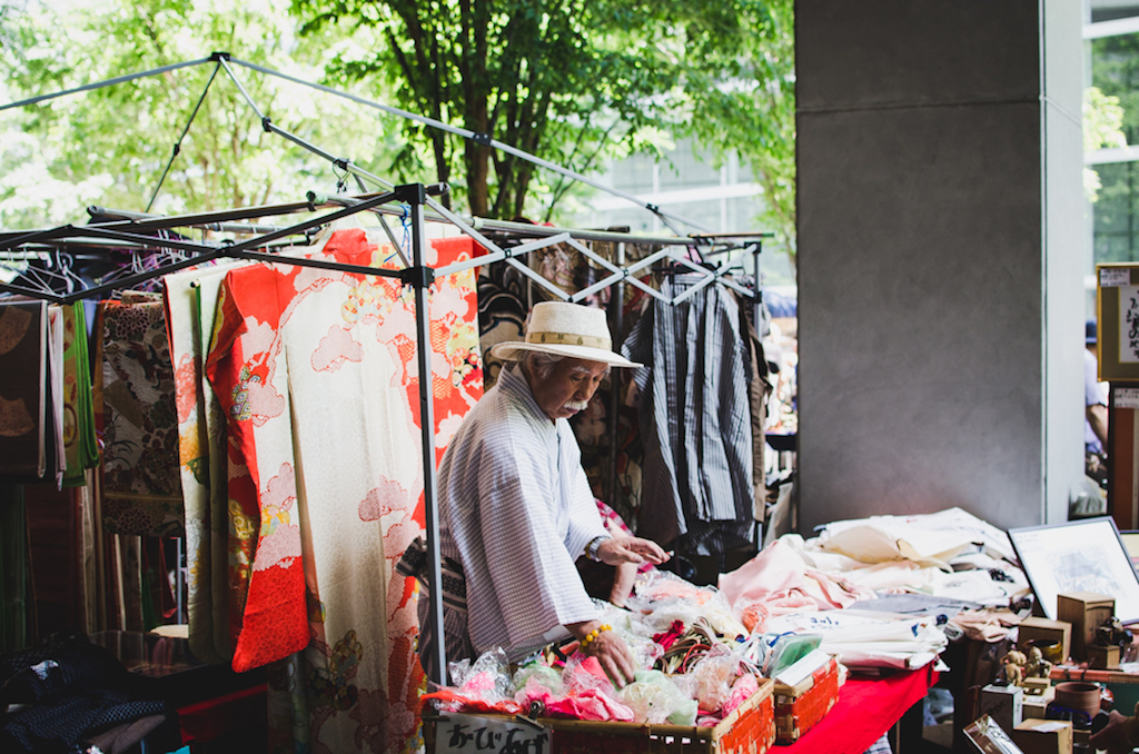 Seller in Oedo Antique Market
