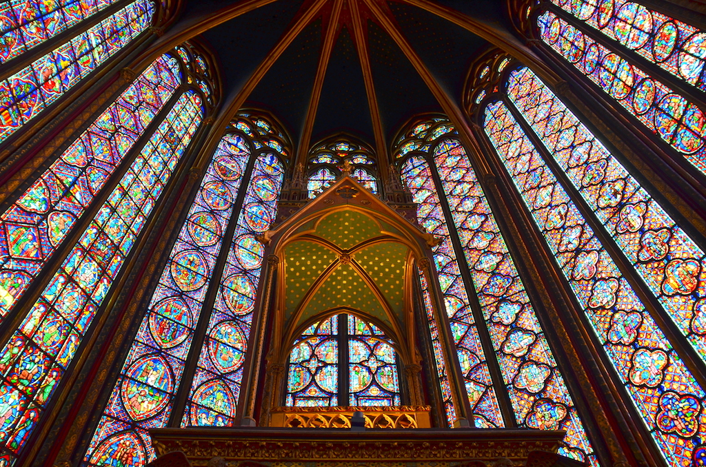 hidden spot: Interior of Sainte-Chapelle