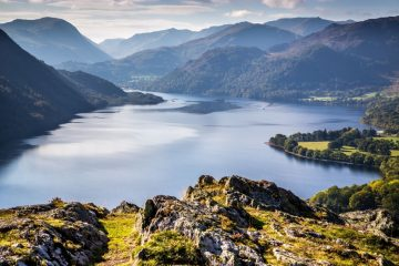 Ullswater from Gowbarrow. UNESCO world heritage sites Lake District getaways UK