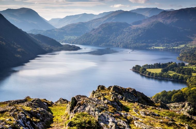 Ullswater from Gowbarrow. UNESCO world heritage sites Lake District