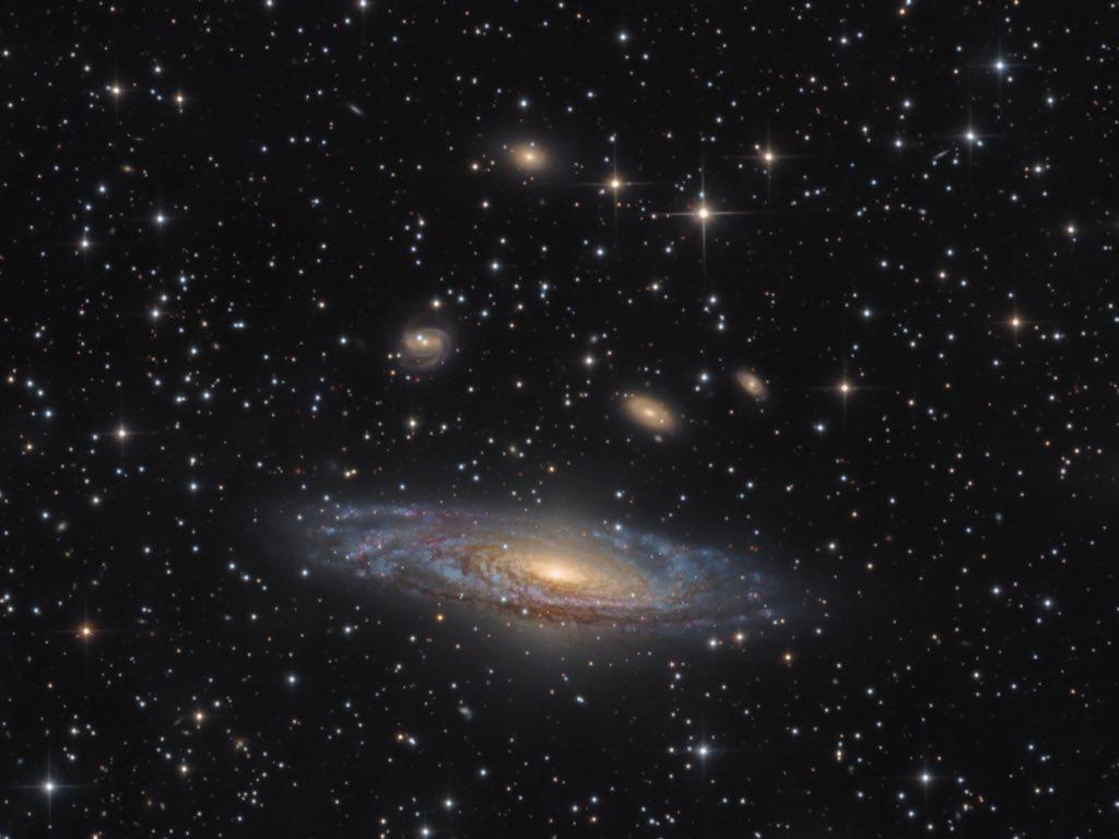 NGC 7331 - The Deer Lick Group © Bernard Miller