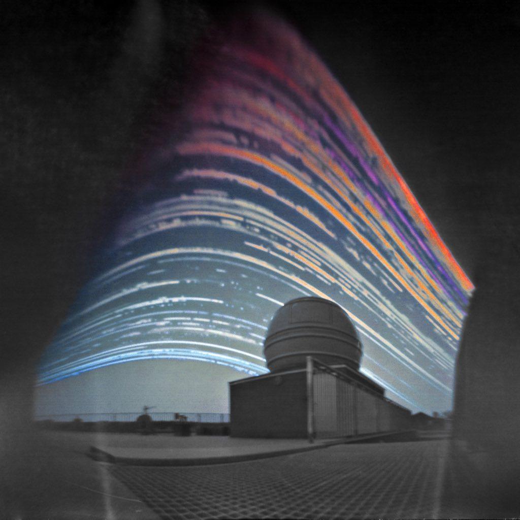 Solar Trails above the Telescope © Maciej Zapior