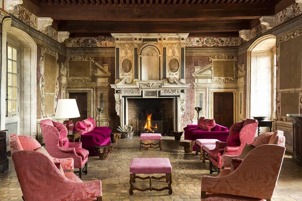Castle Hotel interior of Château de Bagnols