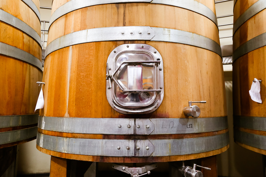Salcheto Winery barrels