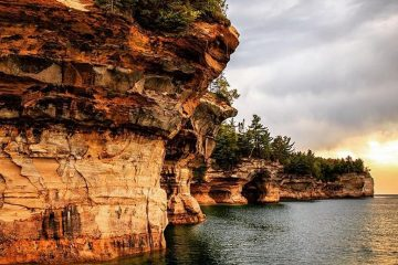 Pictured Rocks National Lakeshore, Michigan great lakes travel national parks
