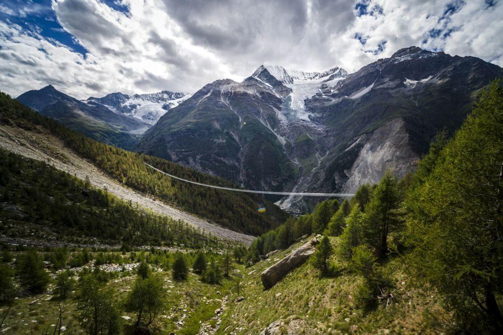 Switzerland worlds longest suspension bridge