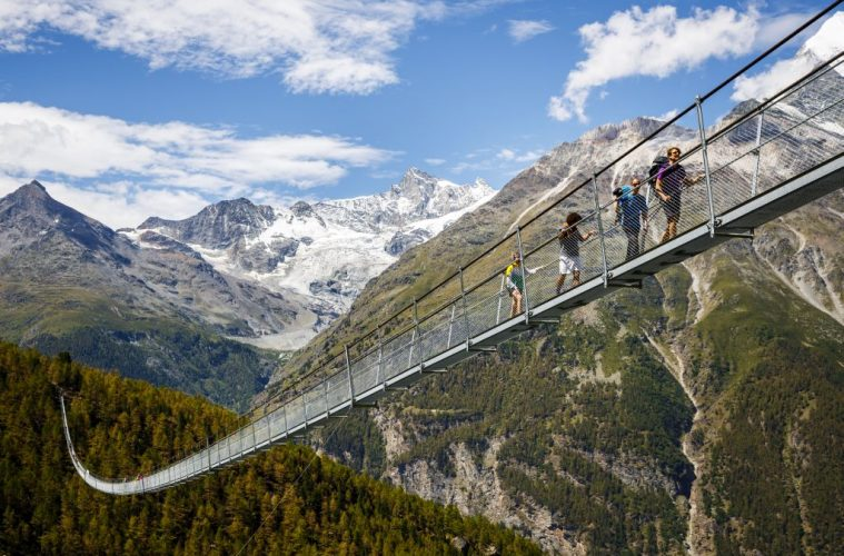 Switzerland worlds longest suspension bridge - Switzerland hiking