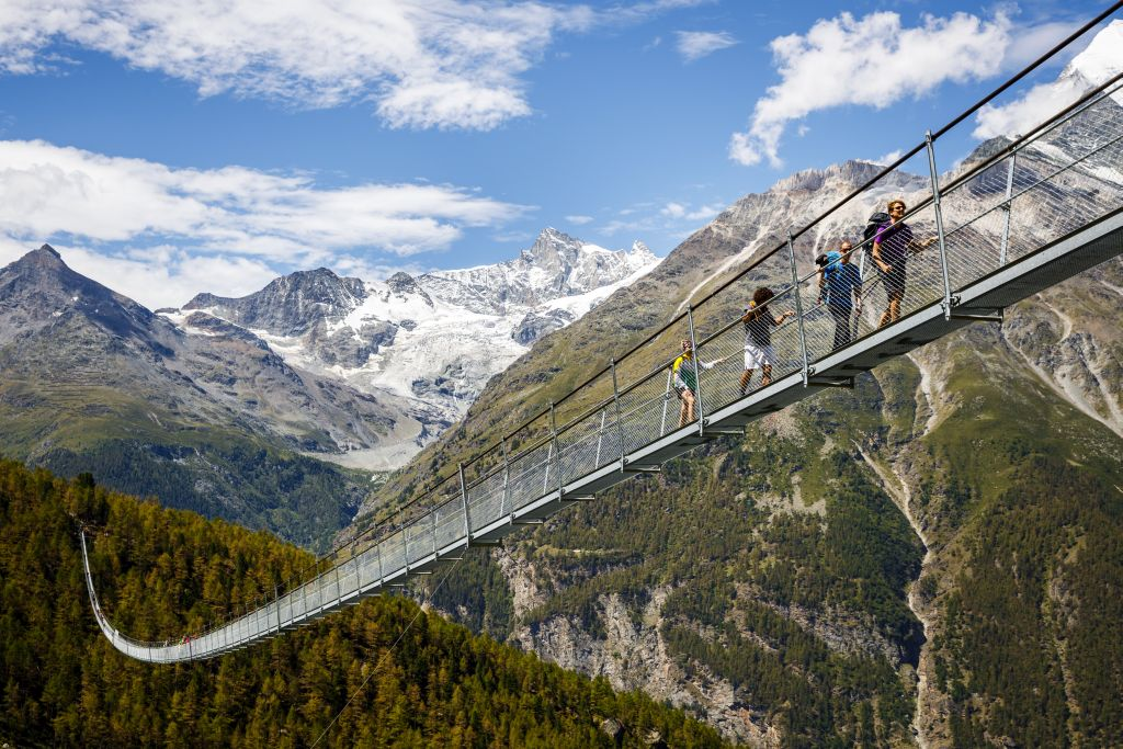 Hike to dizzy heights: World's longest suspension bridge opens in Switzerland