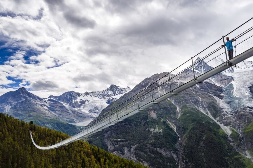 Switzerland worlds longest suspension bridge