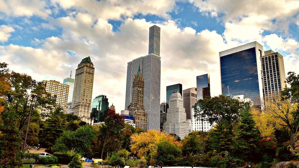 Buildings in Central Park, New York City