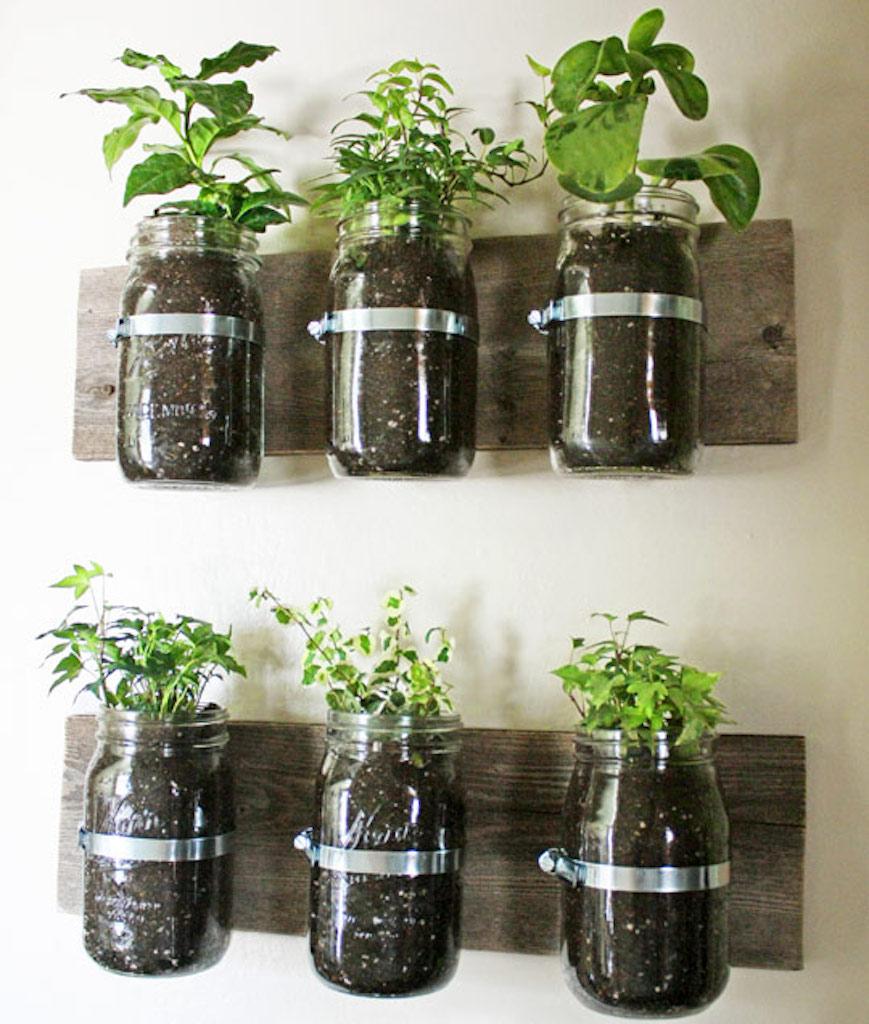 Mason Jar DIY planters
