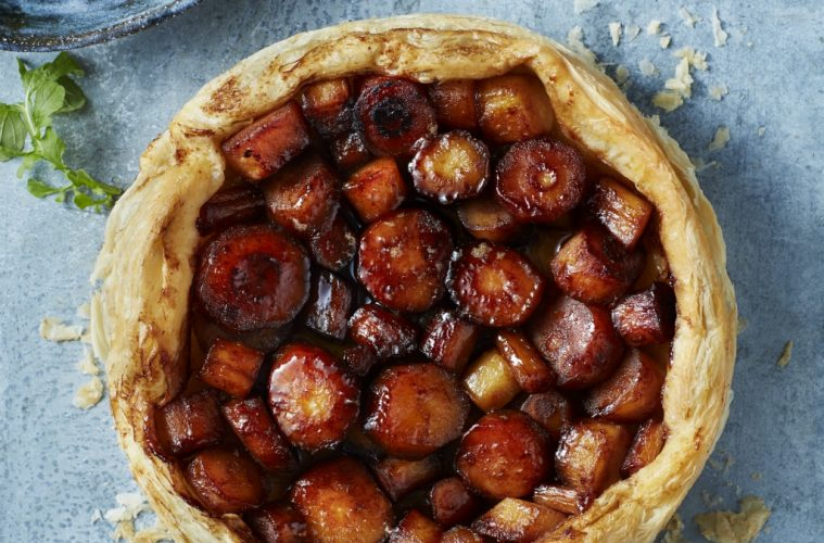 Caramalised Parsnip Tarte Tatin baking recipe