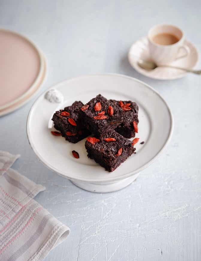 chocolate goji brownies - vegan brownies recipe