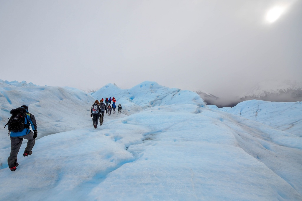 Ice-field walking in Chilean Patagonia adventure