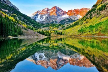 mountain peak maroon bells