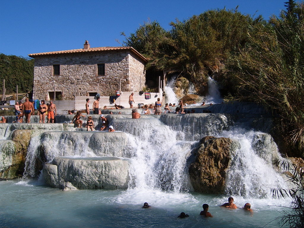 Saturnia thermal baths, Tuscany Italy