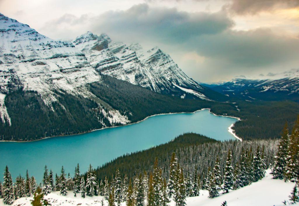 rocky mountains peyto lake canada