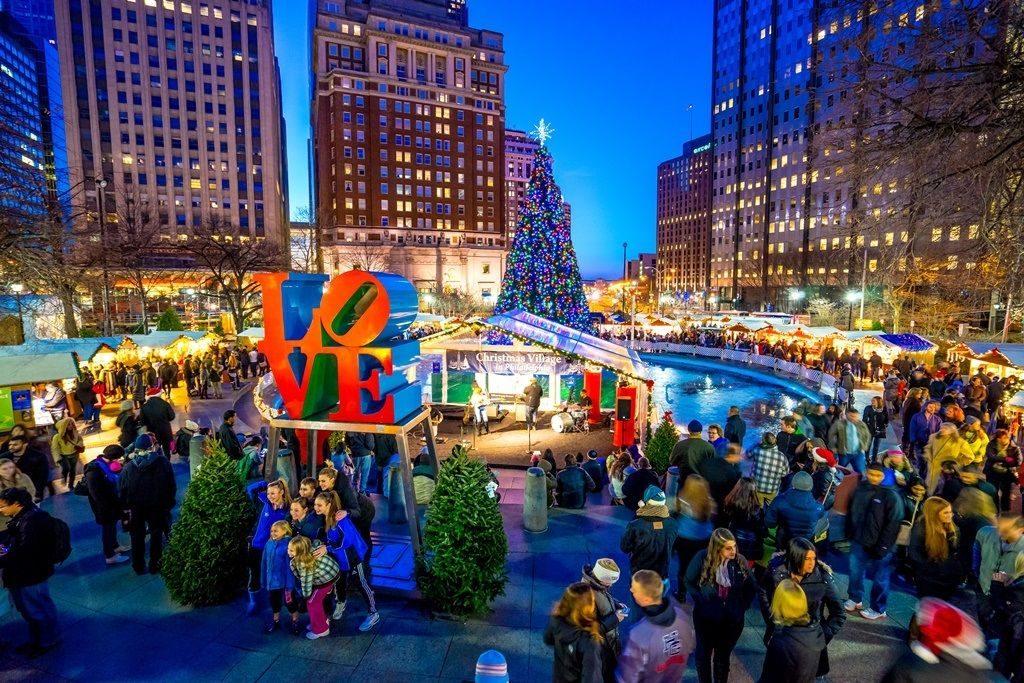 Philadelphia Christmas love park - 1024 x 683