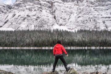 Rocky Mountains canada boom lake winter adventure
