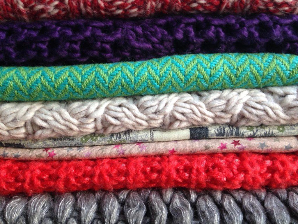 Winter pattern scarves