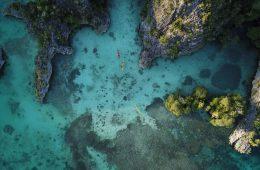 raja ampat drone footage kayak trip