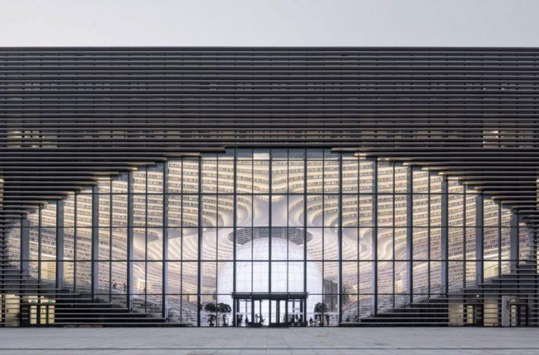 China architecture tianjin-binhai-library Ossip van Duivenbode, courtesy of MVRDV china library