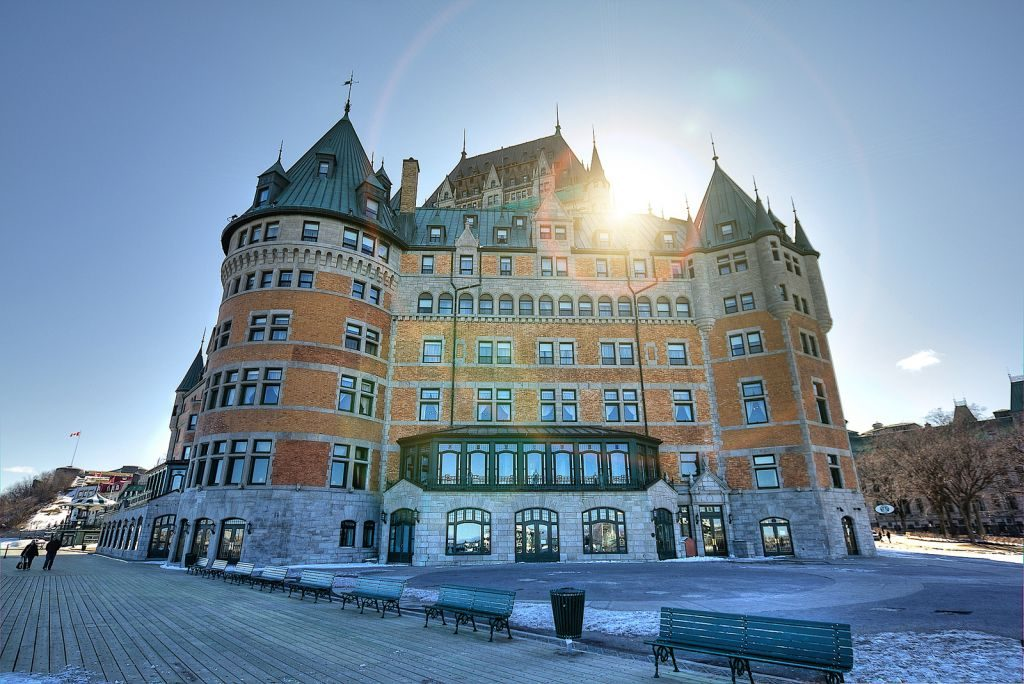 romantic winter destinations chateau frontenac quebec city