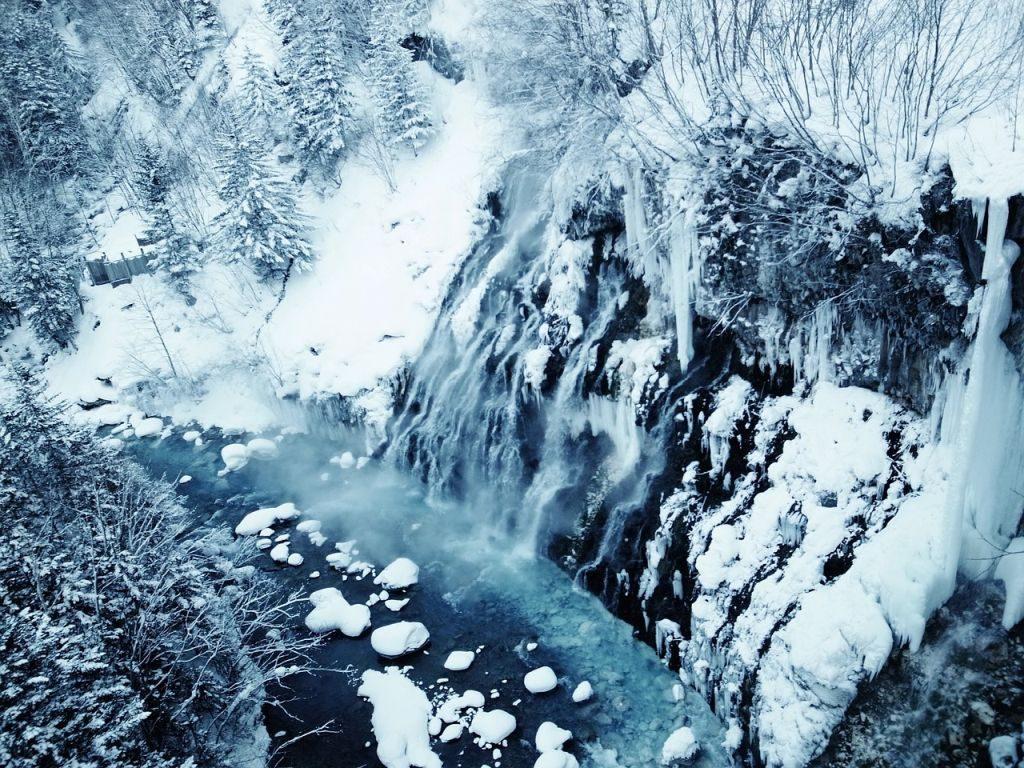 romantic winter getaway winter hokkaido snowy landscape