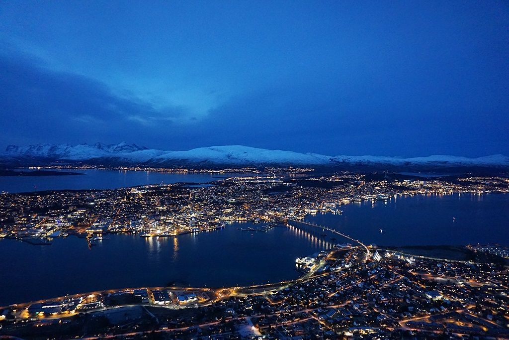 Tromso from above norway trip