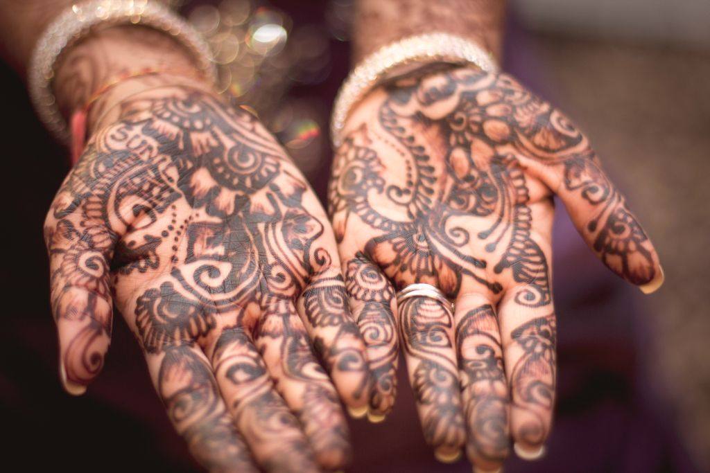 Henna is used across many regions for weddings