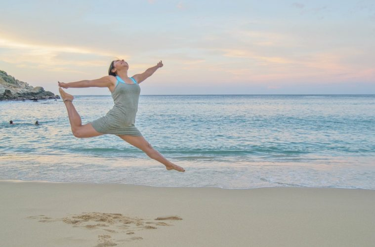 Jumping woman boost metabolism