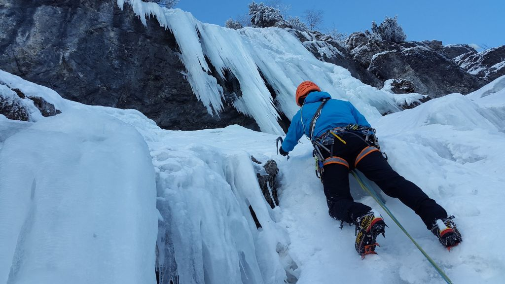 Ice climbing on frozen waterfalls is a thrilling and magical activity in Canada