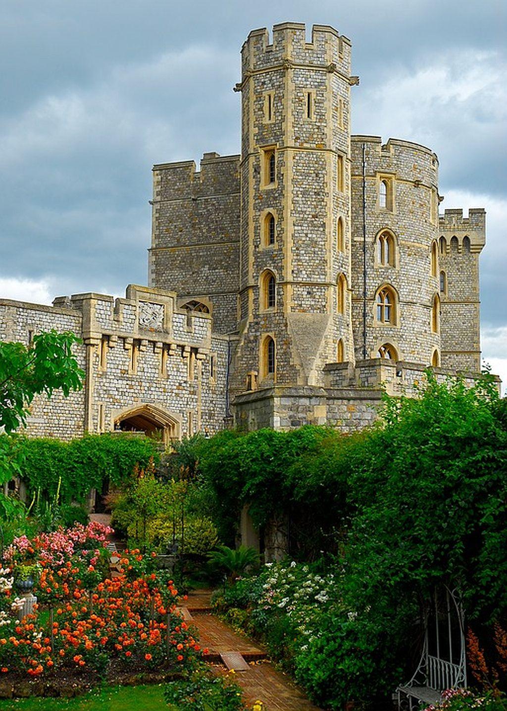 The gardens of Windsor Castle