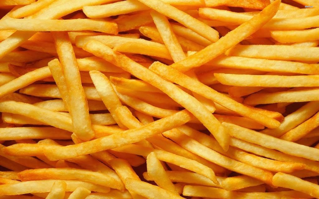 French fries can be fried in animal fat and tossed in beef tallow