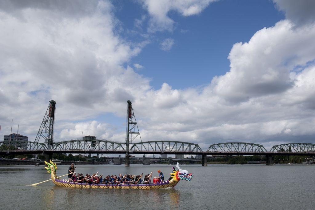 Rose Festival Dragon Boat Races. Photo: Travel Portland