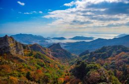 Kankakei aerial tramway Kagawa Japan trip