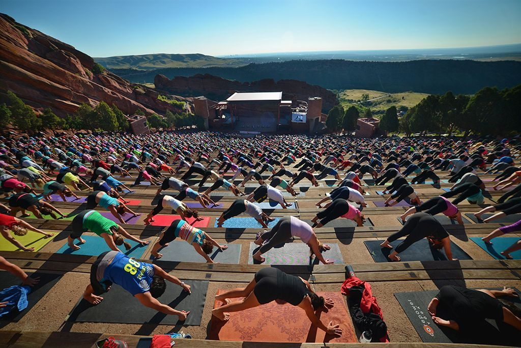 Red Rocks Yoga Credit VISIT DENVER