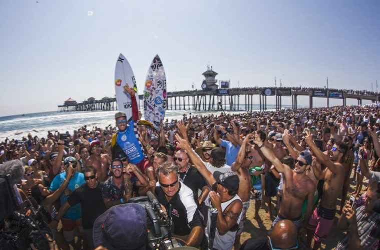 Filipe Toledo after winning the Final at The Vans US Open of Surfing best summer festivals