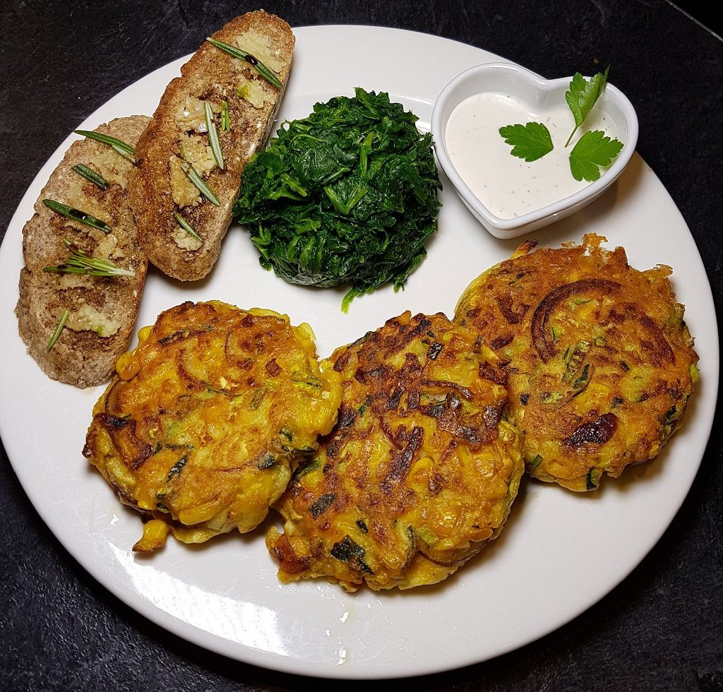 courgette and tofu fritters recipe