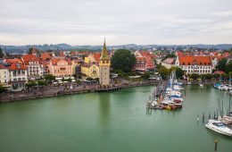 Lindau's beautiful harbor and old lighthouses make it a charming town to visit. - floating cities