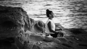 Meditation by the water